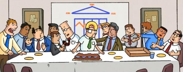 Les personnages de Dilbert refont La Cène