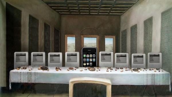 Un iPhone au centre de La Cène