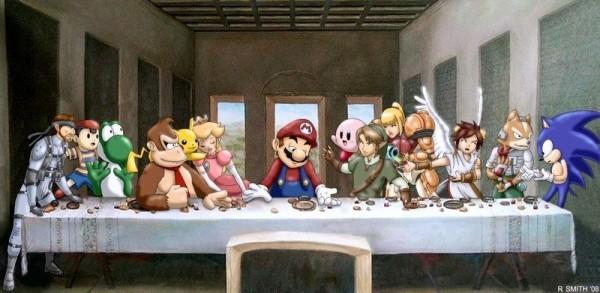 Les personages de jeux-vidéo Nintendo revisitent La Cène