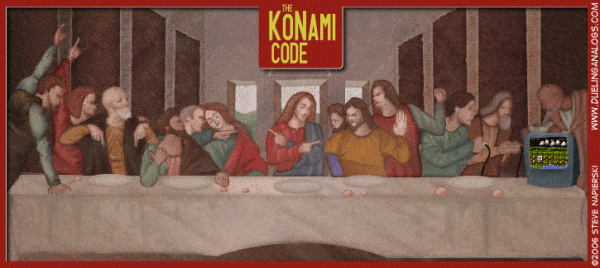La Cène version gamers avec le code Konami
