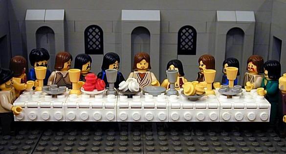 La Cène, reproduit en LEGO