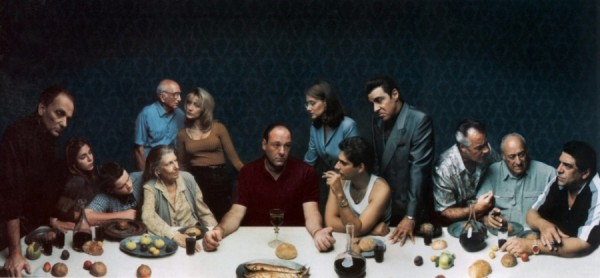La Cène vue par la famille de la série Les Sopranos