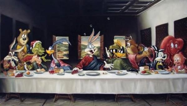 La Cène revisitée par les Looney Tunes
