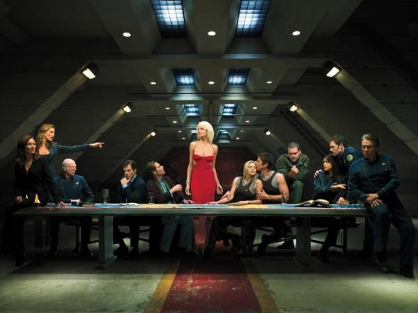 La version de La Cène par les acteurs de Battlestar Galactica