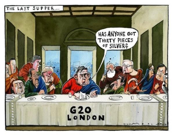 La Cène du G20 et ses leaders mondiaux