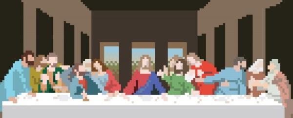 La Cène pixelisée