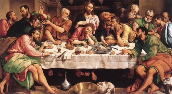 La Cène peinte par Jacopo Bassano