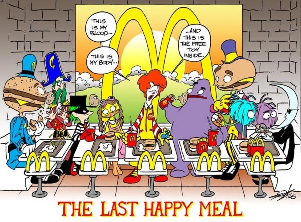 La Cène version McDonald's