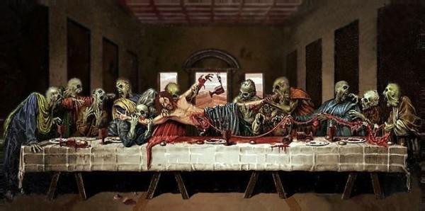 La Cène dévorée par des zombies