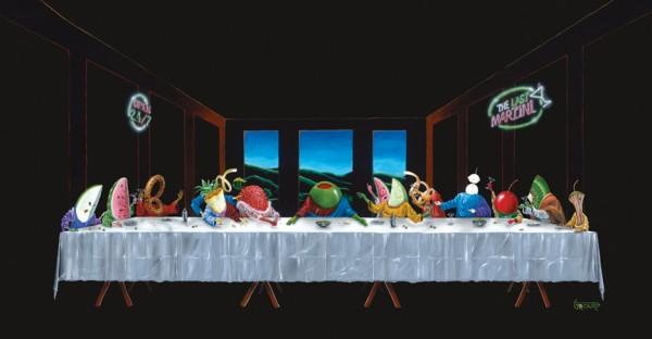 La Cène version Martini & Olive par Michael Godard