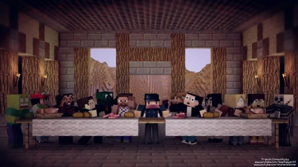 La Cène Minecraft