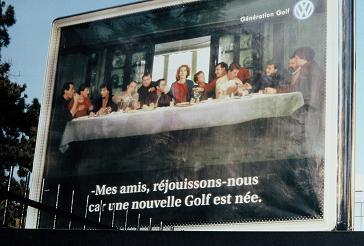 La Cène de la pub pour la Golf de chez Volkswagen