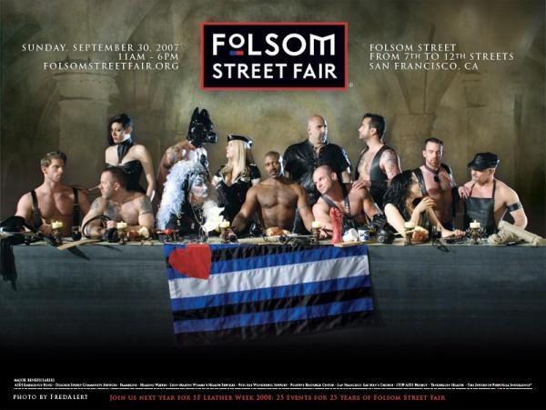 La Cène revue pour le Folsom Street Fair