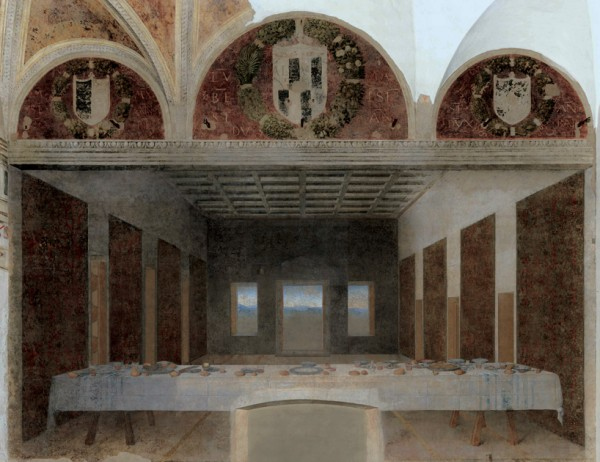 La Cène abandonnée par le Christ et ses apôtres