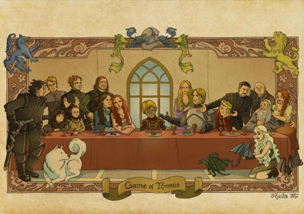 La Cène de la série Game Of Thrones