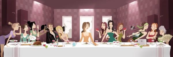 Cuisinella détourne La Cène pour son blog Kitchen Life