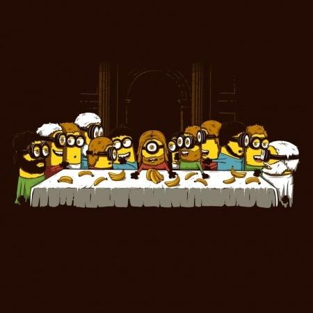 La Cène rejouée par les Minions