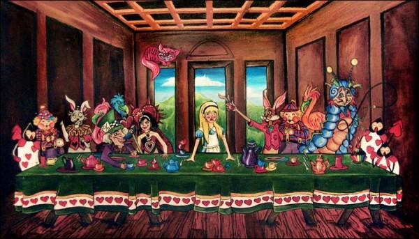 Alice au pays des merveilles ... ou une nouvelle version de La Cène