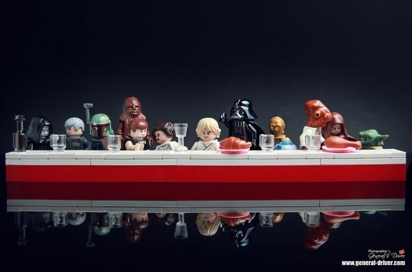 Les personnages de Lego Star Wars rejouent La Cène